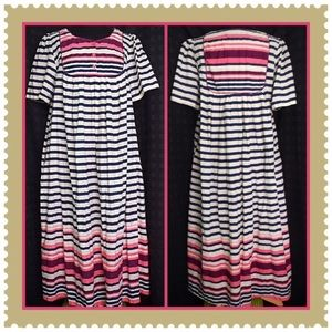 Only Necessities Multicolor Stripe Dress Large